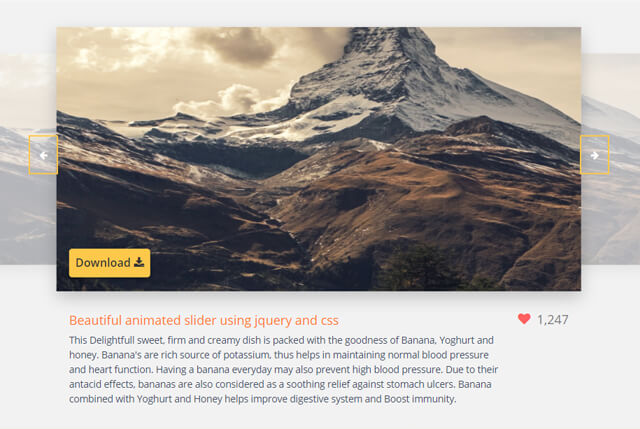 3D smooth carousel/slider with HTML, CSS and JavaScript - Css3
