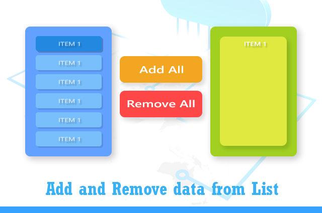 Add and Remove List item using javascript
