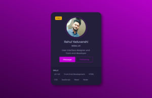 profile card codepen Archives - Css3 Transition
